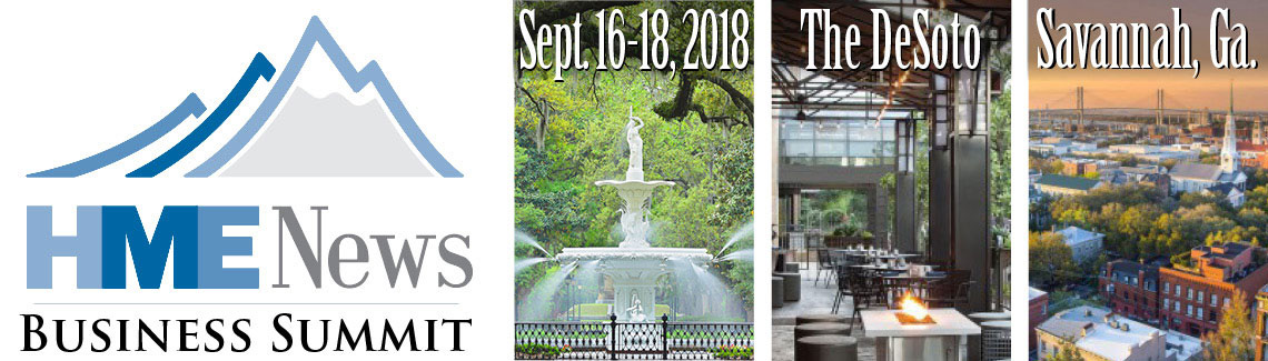 HME News Business Summit | September 16-18, 2018 | The DeSoto Savannah, Ga.